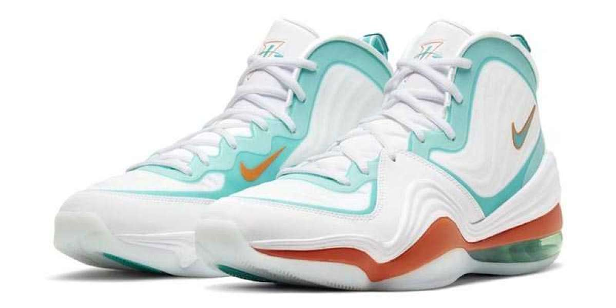 "Best Selling Nike Air Penny 5 ""Miami Dolphins"" For Sale Outlet CJ5396-100"