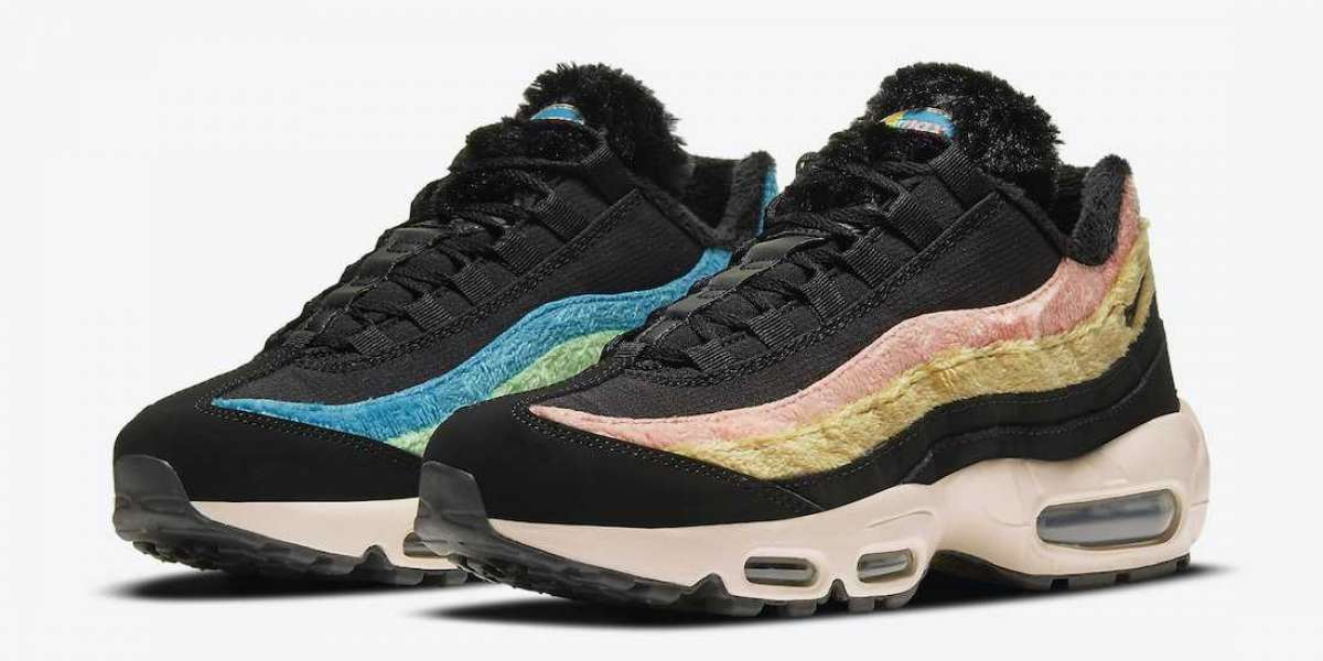 "DB9577-001 Nike Air Max 95 ""Fuzzy Fur"" Black Sneakers"