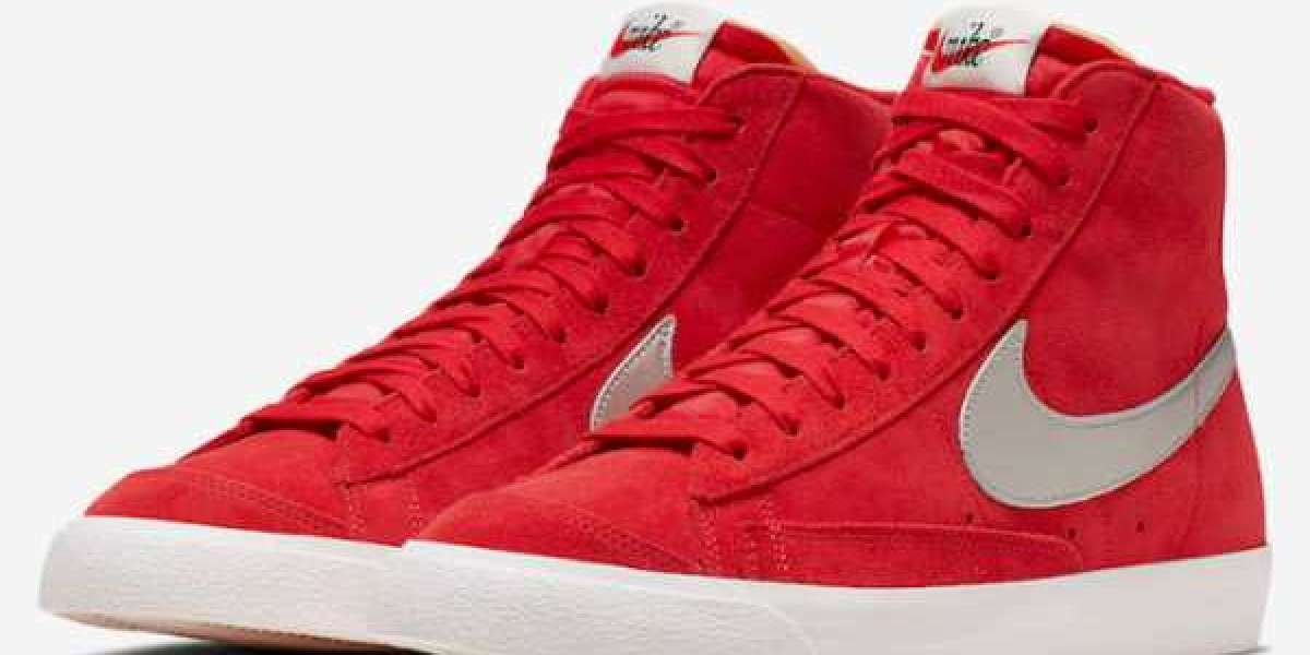 """The 2020 Nike Blazer Mid Vintage """"Red Suede"""" has been released!"""